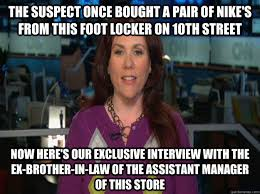 The suspect once bought a pair of Nike's from this Foot Locker on ... via Relatably.com