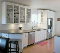 captivating small kitchen design for small space with glamorous auburn floor color ideas feat ivory wall paint color design ideas also attractive bin attractive small space
