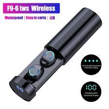 <b>F9 6 TWS Wireless Bluetooth</b> Headphones Waterproof Earphones ...