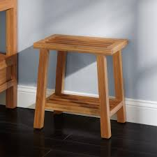 image quarter bamboo bathroom stool a portable open design on this shelf allows for air flow and a gives it a casual vibe which helps it blend easily with a variety of bathroom decors