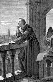 roger bacon a 19th century engraving of bacon observing the stars at oxford