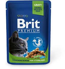 <b>Паучи Brit Premium</b> для стерилизованных кошек и котов 100 г ...