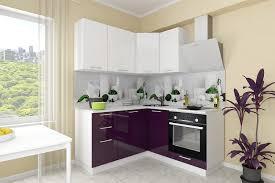 Купить Сити 1,<b>61х1,61</b> м белый/баклажан модульный кухонный ...