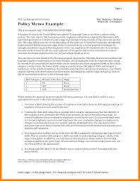 memo format emt resume 8 example of policy memo