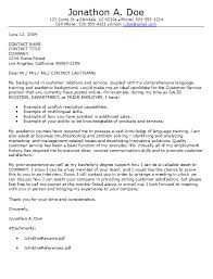 Cover Letter For Customer Service Representative  experienced