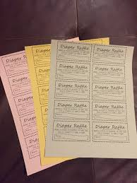 diaper raffle tickets there are 10 tickets to a sheet you can and print them for your own use for diaper raffle