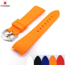 AOOW <b>Silicone</b> Strap Men's Watch Accessories <b>18mm 20mm 22mm</b> ...