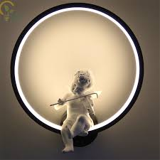 Hot selling Black White Led <b>Wall Lamps indoor Modern wall lighting</b> ...