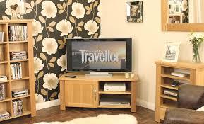 aston solid oak corner television cabinet baumhaus aston solid oak