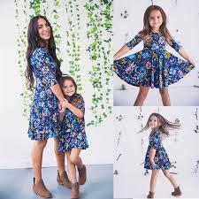 <b>2019 fashion hotsale</b> Family Look Mother Daughter Casual Boho ...