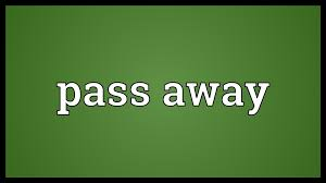 「pass away」の画像検索結果