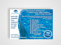 38 serious modern pool service flyer designs for a pool service flyer design design 645572 submitted to flyer for swimming pool service business