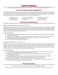 bookkeeper resume samples resume format  bookkeeper