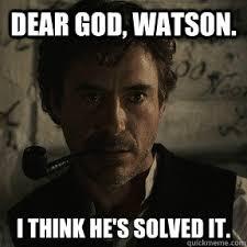 Clever Sherlock memes | quickmeme via Relatably.com