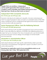 want to work at people first people first cumbria job advert sept 2015