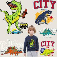 <b>jurassic dinosaur patches for</b> clothing cartoon ironing stickers iron ...