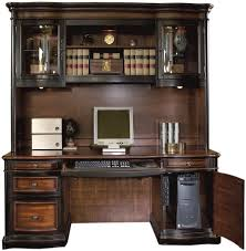 two toned grand style home office computer desk with hutch by coaster 800500 brown finish home office