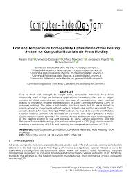 (PDF) Cost <b>and</b> Temperature Homogeneity Optimization of the ...