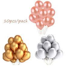 <b>10pcs rose gold silver</b> globos 12 inch Pearl latex balloons birthday ...