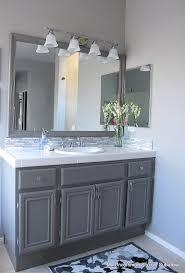 bathroom vanity grey mirror