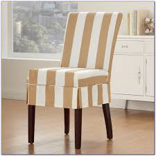 ribbed ivory dining slipcover