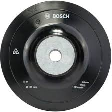 <b>Тарелка опорная Bosch</b>, резиновая, М14, <b>125 мм</b> - купить в ...