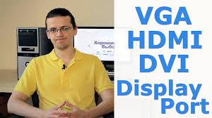 Всё про VGA, HDMI, <b>DVI</b> и Display Port - YouTube