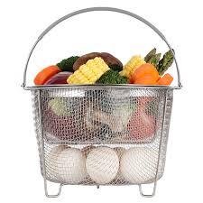 <b>Steamer Basket for</b> Instant Pot Accessories 6 qt or 8 quart – 2 Tier ...