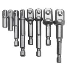 <b>8PCS Socket Bits Adapter</b> Set Hex Drill Nut Driver Power Shank 1/4 ...