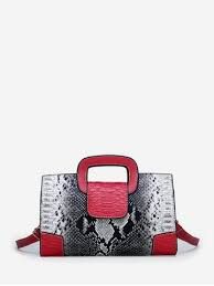 [47% OFF] <b>Snakeskin Pattern Design</b> Tote Bag | Rosegal
