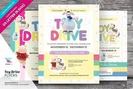 toy drive flyer templates flyer templates on creative market