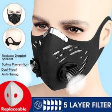 5 Layers Filter <b>Cycling Face Mask</b> PM 2.5 Anti-Pollution Filter <b>Bike</b> ...