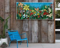 mosaic wall decor: large ft garden mosaic wall art made to order patio decor mosaic wall art