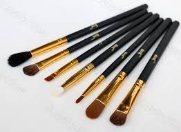 professional 7pcs black gold jessup brand makeup brushes set beauty eyeshadow concealer blending lip cosmetics make