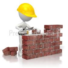 id 3206 brick wall construction presentation clipart build wall