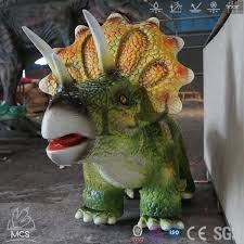 <b>Cute Triceratops</b> Car Ride On <b>Dinosaur</b>-RD019