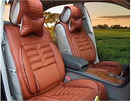 1set Brown <b>Universal Auto Car</b> Seat Cover Pu Leather Five Seats ...