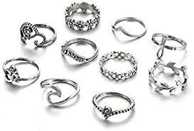 Silver Plated - Rings / Women: Jewellery - Amazon.in