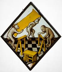 animals in medieval art essay heilbrunn timeline of art roundel three apes building a trestle table