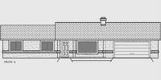 One Story House Plans  Ranch House Plans  Bedroom House Plans House front color elevation view for WD One story house plans  ranch house plans