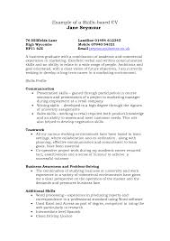 examples of resume skills and  seangarrette co   gallery images examples skills skills based cv example