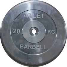 <b>Диск обрезиненный MB</b> Barbell Atlet MB-AtletB31-20 - купить по ...