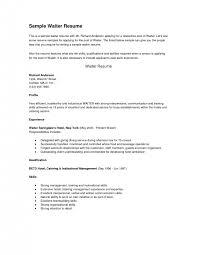 cover letter easy on the eye free resume templates for restaurant servers sample resume objective for restaurant server sample resume