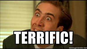 terrific! - You Don't Say Nicholas Cage | Meme Generator via Relatably.com