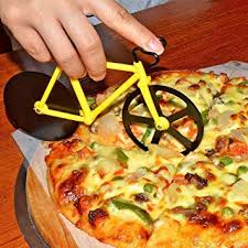 My Party Suppliers <b>Bicycle Pizza Cutter</b> Dual Non Stick Stainless ...