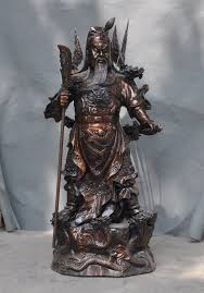<b>christmas</b> Famous <b>Old China bronze</b> 9 Dragon Guan gong Guan Yu ...