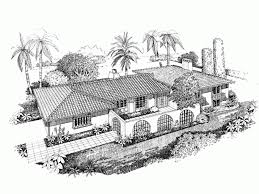 Spanish Revival House Plan   Square Feet and Bedrooms    Front