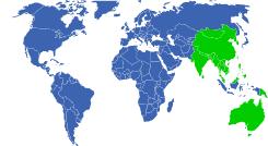 Resultado de imagen de asia australia