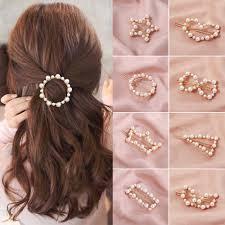1PC <b>Popular Korea Fashion</b> Imitiation <b>Pearl</b> Hair Clip Snap ...