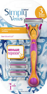 ROZETKA | Женская <b>бритва Gillette Simply Venus</b> 3 + 3 сменные ...